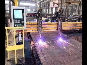 Double Drive Gantry CNC Plasma Machine Cutting Machine H Beam Line Line Prodhimi Hypertherm System CNC