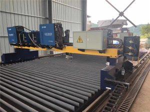 Makinë prerëse e plazmës Double Drive Gantry CNC për prerjen e linjës së prodhimit të rrezeve të çelikut të ngurtë