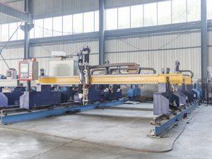 Makineri automatike plazmatike dhe pllaka flakë automatike për prerjen e pllakave metalike cnc të llojit Gantry